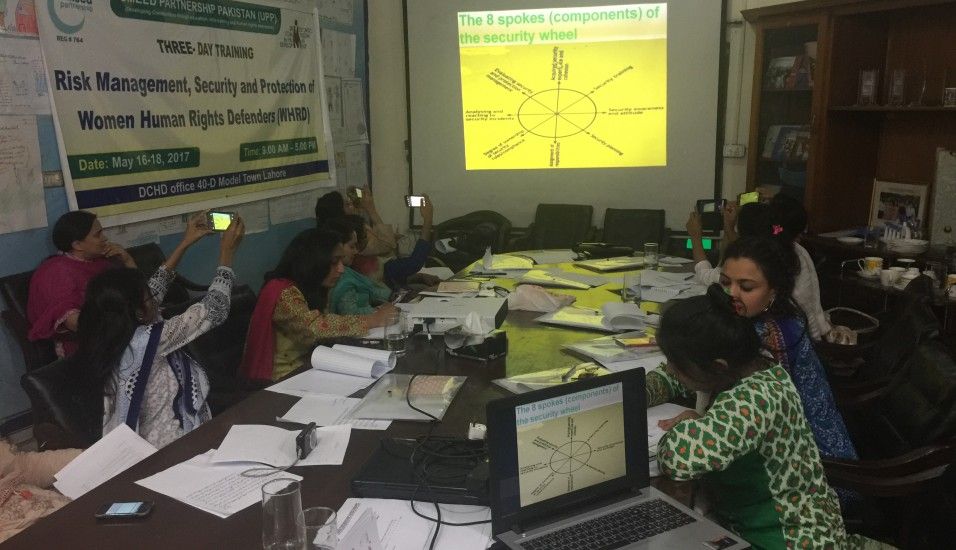 Three day Training of WHRDs.